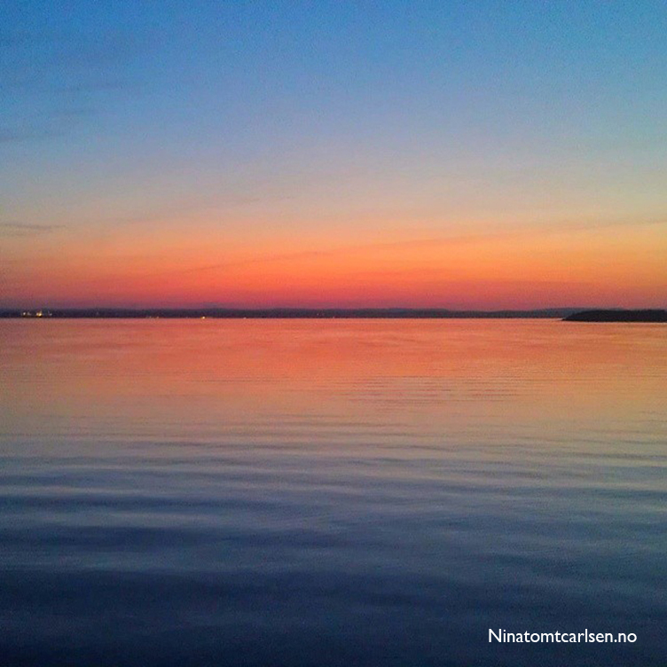 Solnedgang på Larkollen