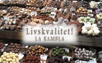 Kvalitetssjokolade på mattorget, La Rambla - Barcelona.